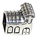 Pro Jewelry 925 Solid Sterling Silver Church Charm Bead