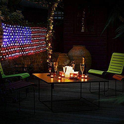 Harwls LED Net Lights American Flag Light for Festival Indoor Outdoor Decoration