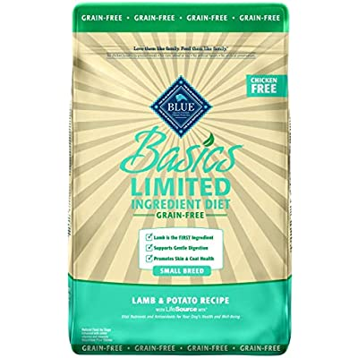 Blue Buffalo Basics Limited Ingredient Diet, Grain Free Natural Adult Small Breed Dry Dog Food, Lamb & Potato