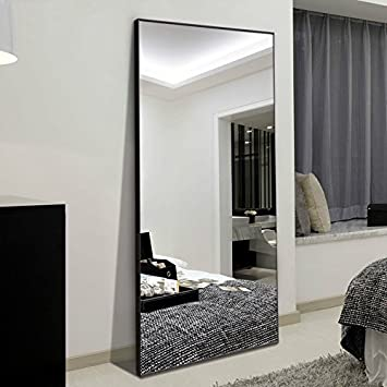 Awesome Ha 65X24 Full Length Mirror Bedroom Floor Mirror Standing Or Hanging Black Interior Design Ideas Ghosoteloinfo