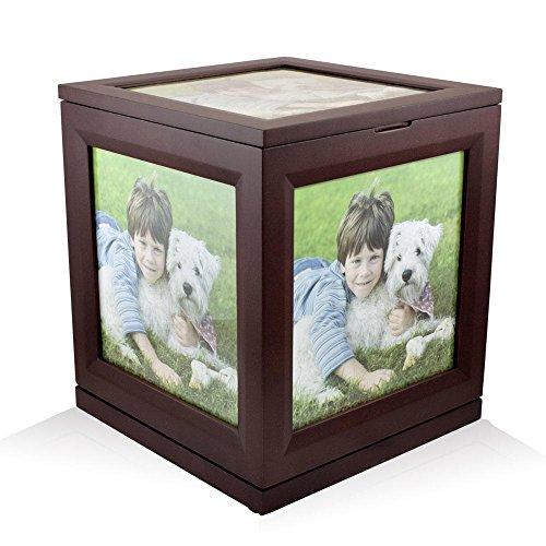 Perfect Memorials Large Photo Cube Rotating Cremation Urn...