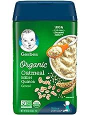 Gerber Oatmeal Millet Quinoa Organic Cereal
