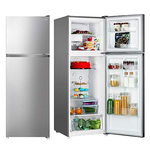 CHiQ 450 Liter Top Mount Refrigerator with Twin Cooling, CR450S, Frost-Free, Fridge, LED Lighting, Silver, 1 Year Warranty