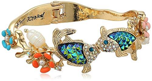 Betsey Johnson (GBG) Women's Fish Hinged Bangle Bracelet, Multi, One Size