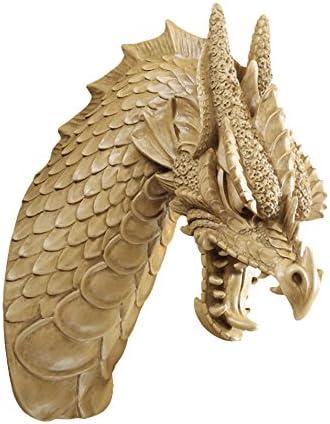 Design Toscano EU91025 Head of the Beast Dragon Wall Sculpture: Set of Two,Set of 2