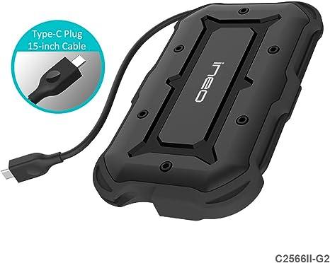ElecGear - Carcasa de protección USB a SATA para Disco Duro de 2,5 ...