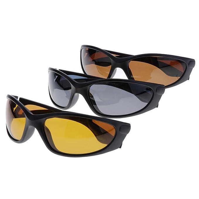 Andux Lunettes de pêche lunettes polarisantes protection de Pêche lunettes en vélo VTT Lunettes de soleil Gl-05 (brun) yvjpmz