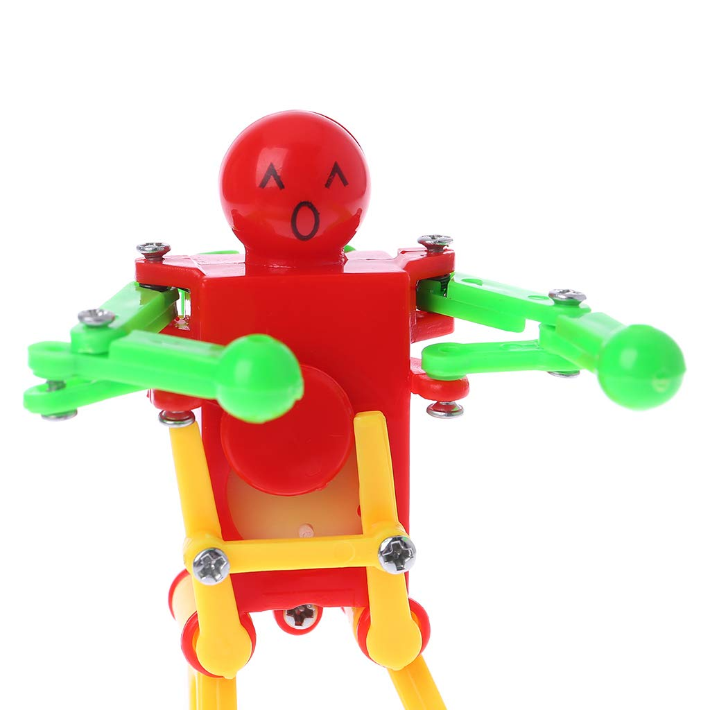 YDZN Plastic Clockwork Dancing Robot Kids Wind-Up Toy Home Decor Children Party Prop Birthday Festival Gift Educational Toy