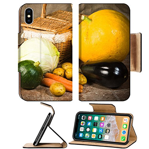 Liili Premium Apple iPhone X Flip Pu Leather Wallet Case IMAGE ID: 16099002 still life with vegetables and a ()