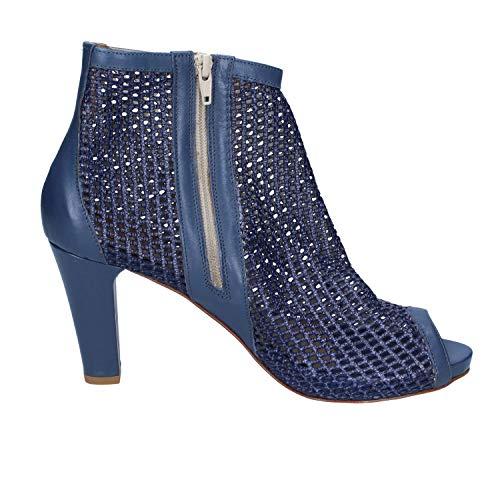 Femme Bleu Femme Calpierre Bleu Cuir Cuir Bottines Calpierre Calpierre Bottines 05dx0q