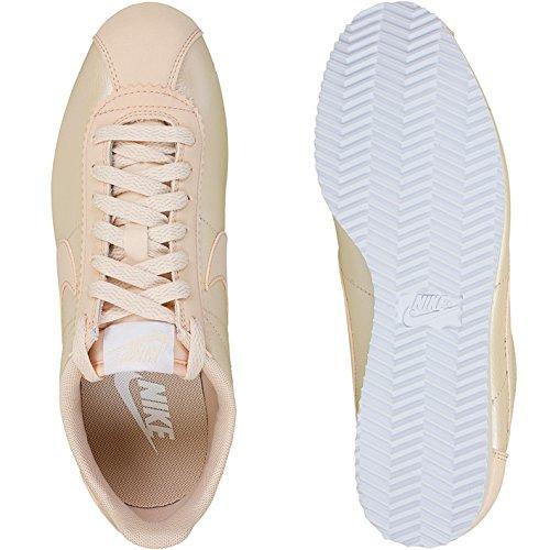 Nike Cortez Donne Di Cuoio Classici Della Scarpa Da Tennis 807.471-008 Arancione Quarzo