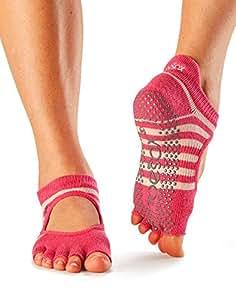 ToeSox Women's Bellarina Half Toe Grip (Amour) Medium