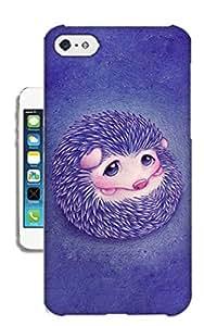 Pinellia Shop Purple Hedgehog TPU Hard Phone Case for Iphone 5c