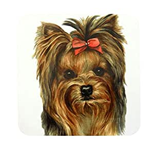 WAGGY DOGZ YORKIE YORKSHIRE TERRIER DOG PUPPY MADE IN UK PRESENT GIFT QUALITY COASTER
