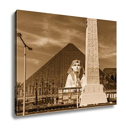 Ashley Canvas View Of Luxor Las Vegas Hotel And Casino Las Vegas, Kitchen Bedroom Living Room Art, Sepia 24x30, AG6428494