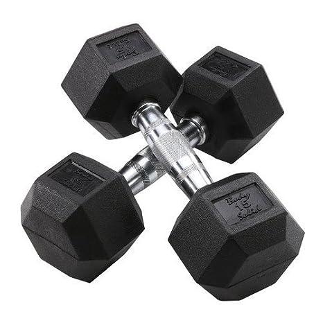 Cuerpo sólido hierro sdrsheavy - Mancuerna hexagonal de goma, 105 - 120 lb: Amazon.es: Deportes y aire libre
