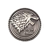 Direwolf Stark House Wolf Pin Brooch Deluxe Game of Thrones GOT