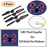 STARTRC Low-Noise Quick-Release Programmable LED Flash Word Propellers for DJI Mavic Pro Platinum LED Word Propeller 2 Pairs