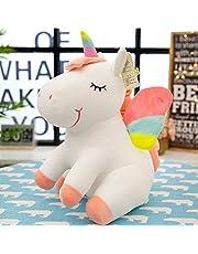 "SEEKVER Niño Peluche de Unicornio: Lindos Regalos de Unicornio,Juguete Peluche de Unicornio Blanco,Regalo de Navidad,10 ""de Largo,Blanco"