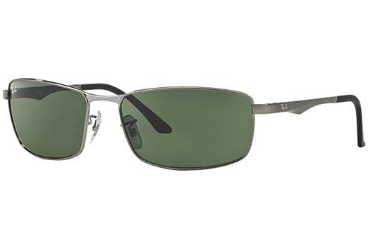 b53f7d2eab Amazon.com  Ray Ban RB 3498 004 71 - Gunmetal Green  Clothing