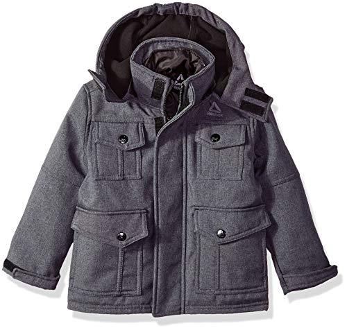 Reebok Boys' Big Active Pockey Systems Jacket, Charcoal, - Boys System Jacket