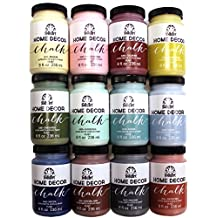 FolkArt Home Decor Chalk Paint Set (8-Ounce), PROMO845B (12-Pack)