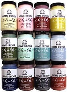 folkart home decor chalk paint set 8 ounce promo845b 12 pack
