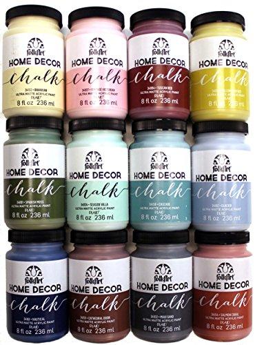 amazoncom folkart home decor chalk paint set 8 ounce promo845b 12 pack - Home Decor Chalk Paint