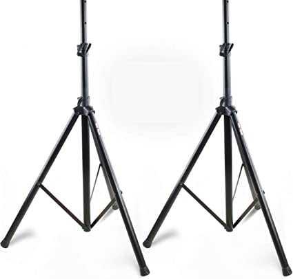 Amazon Com Pair Of Pa Speaker Stands By Hola Music Hps 200pa Adjustable Tripod Height 4ft To 6ft Musical Instruments