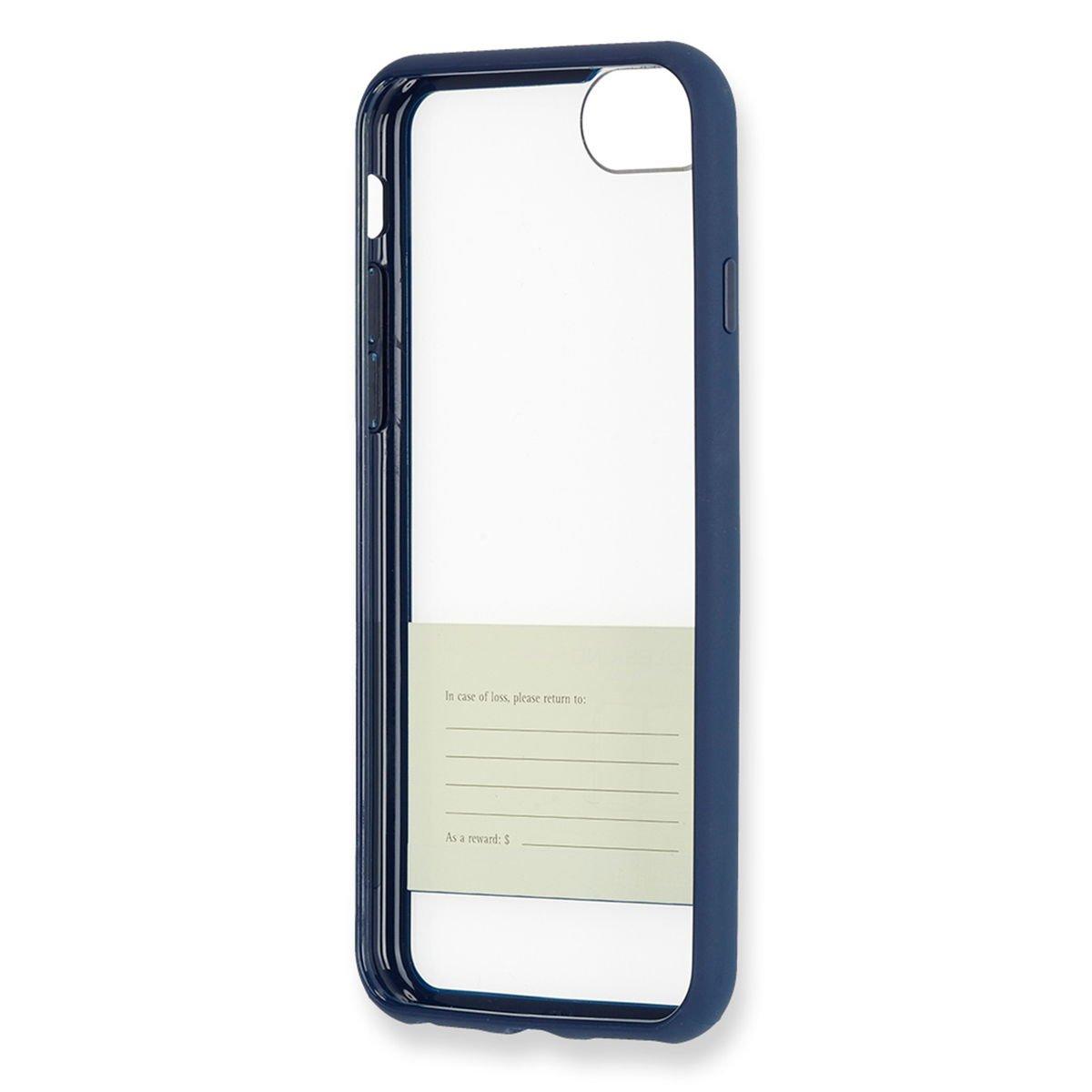 Moleskine Hartschalenetui (Durchsichtige Papierbanderole) geeignet für Iphone 7, stahlblau