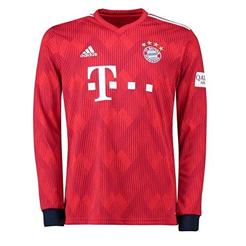 (adidas Bayern Munich Home L/S Jersey 2018/2019 - XL)