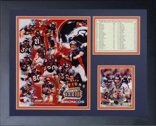Legends Never Die 1998 Denver Broncos Super Bowl Champions Framed Photo Collage, 11x14-Inch