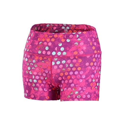 MAYUAN520 Damens's Vibrant Farben Kompression Passen Laufhose Shorts Breiten Taille Schlüsseltasche Elastische Häute Yoga Fitness Unten