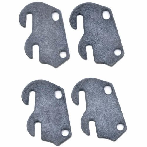 BedClaw #4 Curved Hook Plates for Wooden Beds, Set of 4
