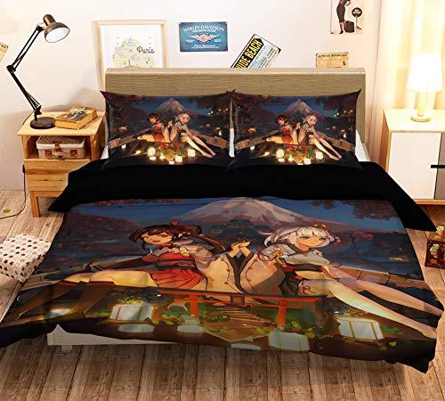 AJ WALLPAPER 3D Fleet Girls Collection 656 Japan Anime Game Bedding Pillowcases Quilt Duvet Cover Set Single Queen King | 3D Photo Bedding, US Wendy (King) - Natura Duvet Collection