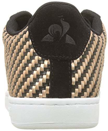 Gold Donna Le Courtset rose Sneaker W Woven Coq Gold black rose Black Beige Noir Sportif xwRqU4Twa