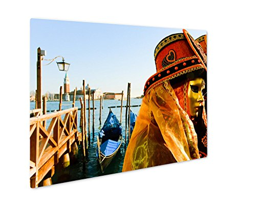 Costume De Carnaval Couple (Ashley Giclee Metal Panel Print, Traditionally Dressed Venice Carnival Couples In Piazza San Marco Italy, 8x10)