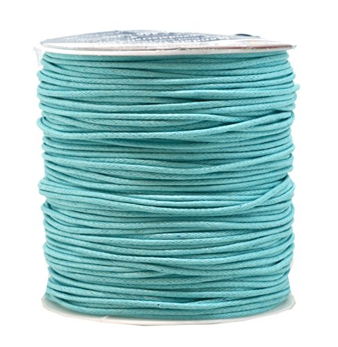 - Mandala Crafts 1.5mm 109 Yards Jewelry Making Beading Crafting Macramé Waxed Cotton Cord Rope (Turquoise)