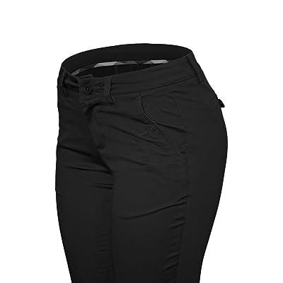 Cielo Women's Cotton Straight Pants (11, Black)