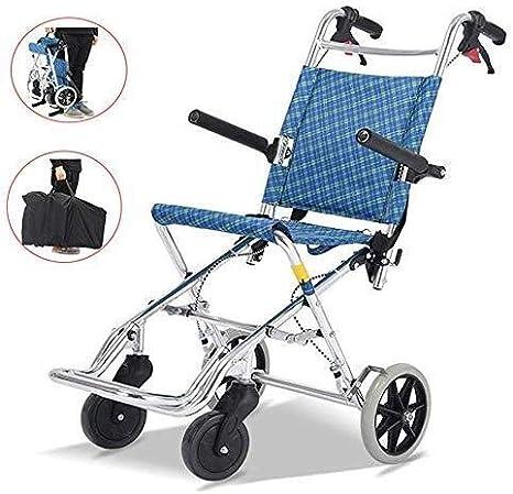 Hyl Sillas de Ruedas Plegable Silla de Ruedas - Las sillas de Ruedas autopropulsadas, sillas de Ruedas Ligeras autopropulsados para los discapacitados y Las Personas Mayores, fácil de Transportar y