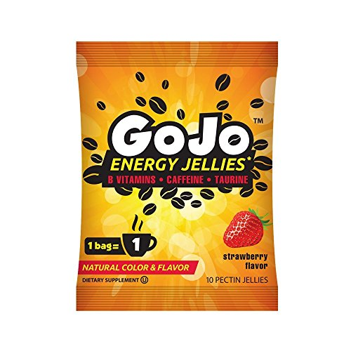 GoJo Energy Jellies, Strawberry, 12 Count