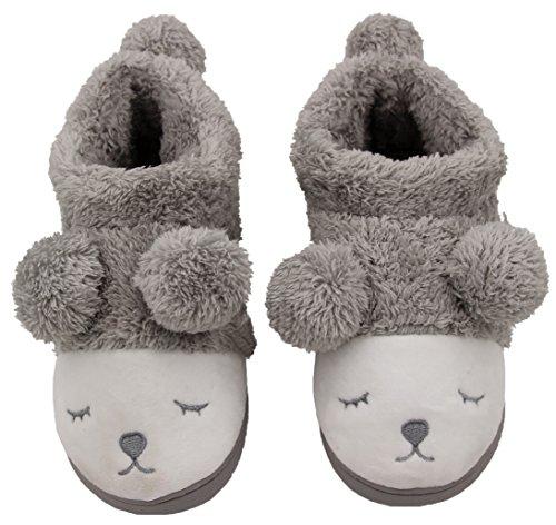 Caramella Bubble Women Wool Plush Fleece Lined Slip On Memory Foam Clog House Slippers Indoor / Outdoor