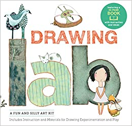 drawing lab kit a fun and silly art kit includes instructions and materials for drawing experimentation and play burst featuring a 32 page book with instructions and ideas