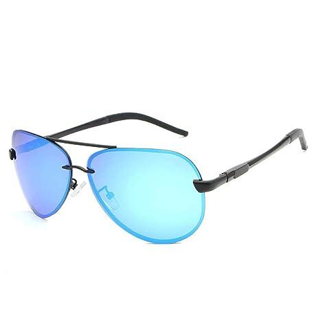L.L.QYL Gafas Gafas de Sol de Metal Gafas de Hombre ...