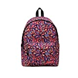 Printing Zipper Backpacks, YiMiky Students Retro Backpack for Women and Men Rucksack Fashion Canvas Lightweight Cycling Bags Retro Portable Casual School Bags Travelling Shopping Bags (Colorful)