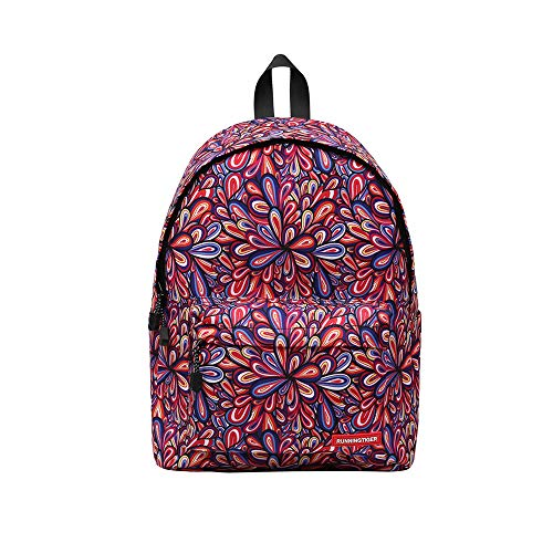 Fashion Leisure Printing Zipper Backpacks, Businda backpack for women and men rucksack school bags travel bags by Businda