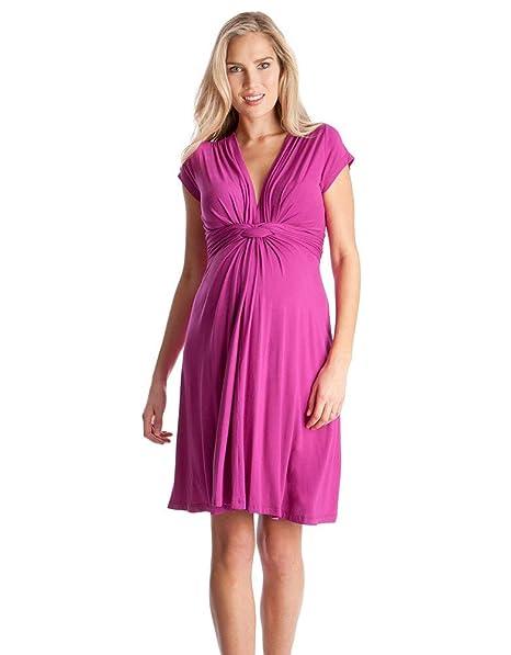 come comprare grande sconto per il prezzo rimane stabile Seraphine Women's Pink Fuchsia Knot Front Maternity Dress