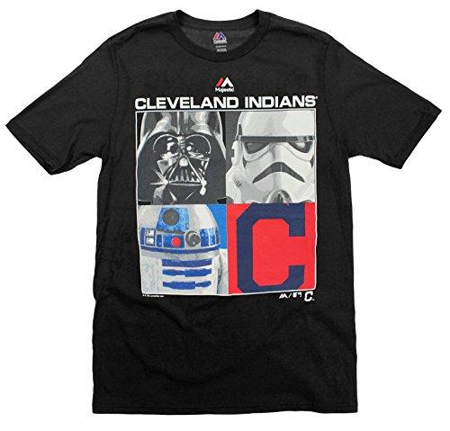 Cleveland Indians MLB Big Boys Youth Star Wars Main Character T-Shirt, Black – DiZiSports Store