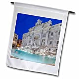 3dRose Danita Delimont - Fountains - Italy, Rome, Trevi Fountain at dawn - 18 x 27 inch Garden Flag (fl_277656_2)
