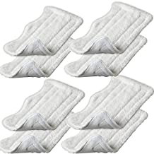 INTELCLEAN Accessories For 8pcs Replacement Microfiber Pads for Euro Pro Shark Steam Mop S3250 S3101 (set of 8)